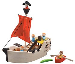 Plan Toys houten Piratenboot
