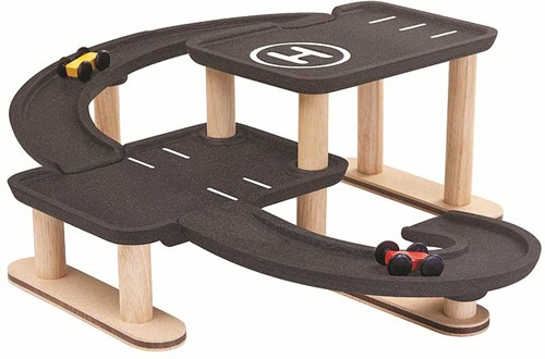 Plan Toys houten speelgoedgarage Race 'n Play