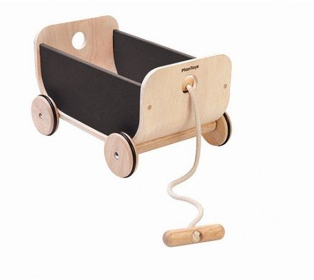 Plan Toys  houten loopwagen Wagon Black 8619