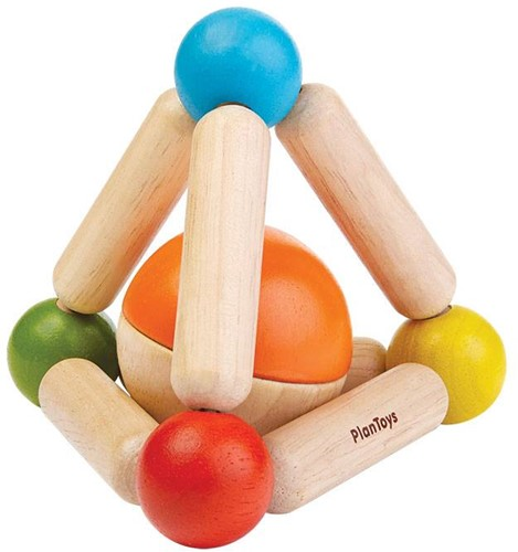 Plan Toys  houten rammelaar Triangle Clutching Toy