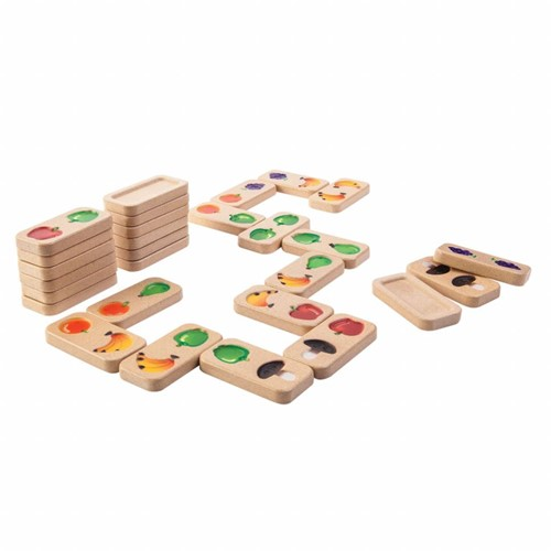 Plan Toys houten kinderspel Fruit Domino