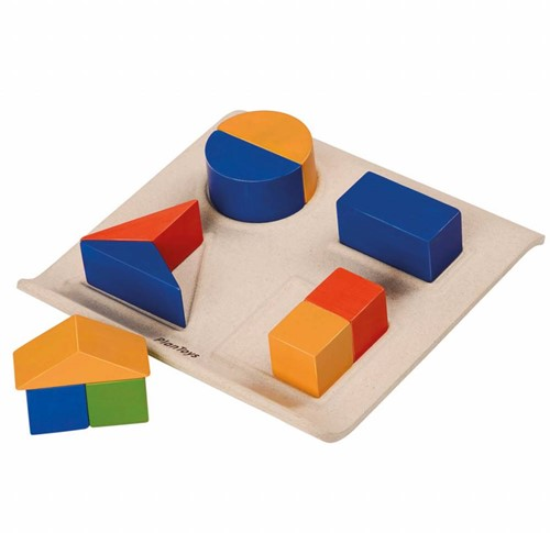 Plan Toys  houten vormenpuzzel Fraction Fun
