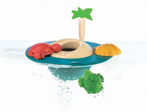 Plan Toys  houten badspeelgoed Floating Island 5713-2