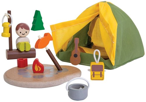 Plan Toys  Plan City houten speelstad set Camping set