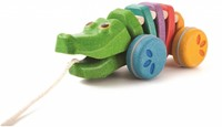 Plan Toys  houten trekfiguur Dancing Alligator Rainbow-2