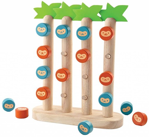 Plan Toys  houten kinderpel Monkey in a row