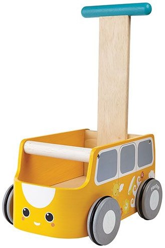 Plan Toys houten loopwagen Van Walker - Yellow 5184