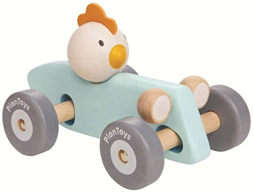 Plan Toys Houten Speelvoertuig Chicken Racing Car