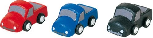Plan Toys  Plan City houten Pickup auto's