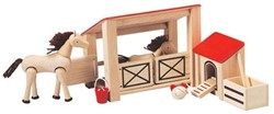 Plan Toys houten speelset Stable